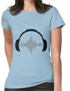 DJ Headphones Womens Fitted T-Shirt