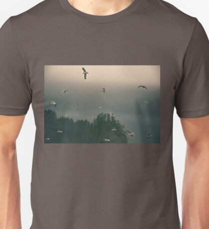 Seagulls in a Storm in Pacific Ocean Unisex T-Shirt
