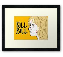 Kill Bill (Transparent) Framed Print