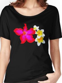Tropical Bliss Floral Women's Relaxed Fit T-Shirt