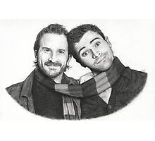 Matt Cohen and Richard Speight Jr sketch Photographic Print