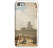 John Varley, , ABERYSTWYTH CASTLE FROM THE BEACH, WALES iPhone Case/Skin