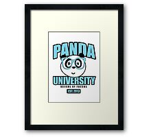 Panda University - Blue Framed Print