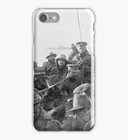 Lifeboat carrying men of the 1st Divisional Signal Company, GGallipoli  iPhone Case/Skin