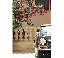 Sports Car and Bougainvillea Photographic Print