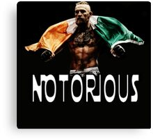 mcgregor the notorious Canvas Print