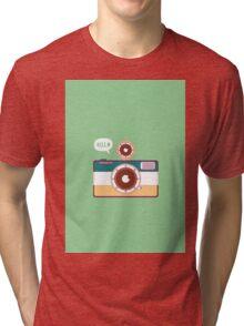 say hello to camera Tri-blend T-Shirt