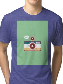 say hello to camera Tri-blend T-Shirt