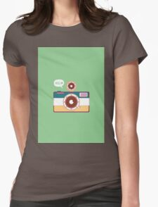 say hello to camera Womens Fitted T-Shirt