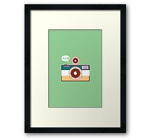 say hello to camera Framed Print
