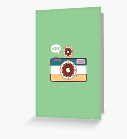 say hello to camera Greeting Card