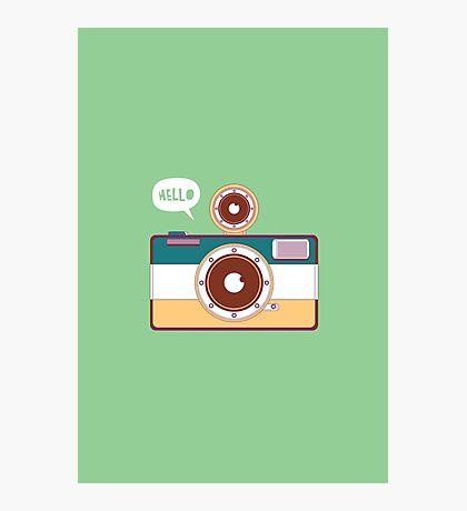 say hello to camera Photographic Print