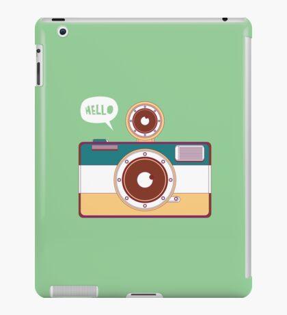 say hello to camera iPad Case/Skin