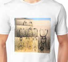 A dozen men on cardboard Unisex T-Shirt