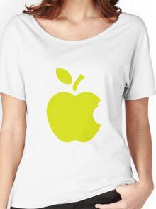 Green Apple.flat design Women's Relaxed Fit T-Shirt
