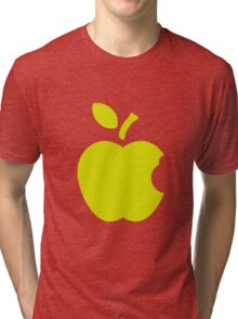 Green Apple.flat design Tri-blend T-Shirt