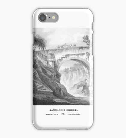 Scotia Depicta by by James Fittler - Gannachie Bridge - Etchings of towns, castles and scenery from Scotland in the early 19th century iPhone Case/Skin