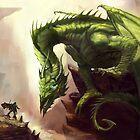 Green Elder Dragon by Anthony  Christou