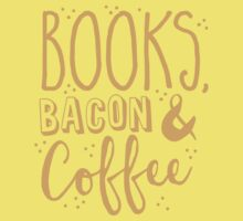 Books, Bacon and coffee One Piece - Short Sleeve