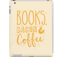 Books, Bacon and coffee iPad Case/Skin
