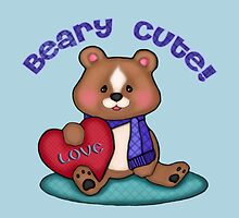 Beary Cute Teddy Bear Art Design by Jamie Wogan Edwards