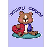 Beary Cute Teddy Bear Art Design Photographic Print