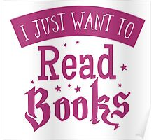 I just want to read books Poster