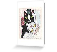 Wedding Dance Bridal Cat Couple Design Greeting Card