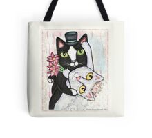Wedding Dance Bridal Cat Couple Design Tote Bag