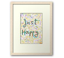 1101 - Just Happy in Colors Framed Print