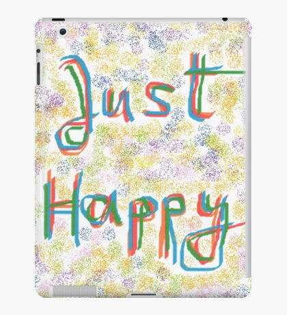 1101 - Just Happy in Colors iPad Case/Skin