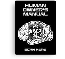 Human Owner's Manual Canvas Print