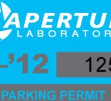 Aperture lab parking Sticker