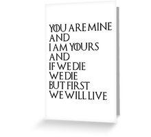 YgritteXJon Greeting Card