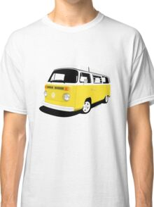 VW Camper Late Bay yellow and white Classic T-Shirt