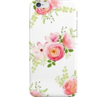 Delicate bunch of spring fresh flowers. Rose, ranunculus, magnolia, peony seamless vector print iPhone Case/Skin