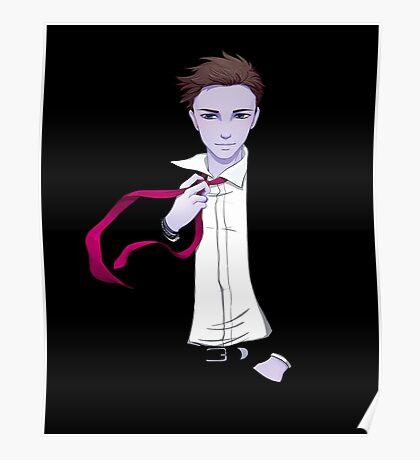 Damien's Red Tie Poster