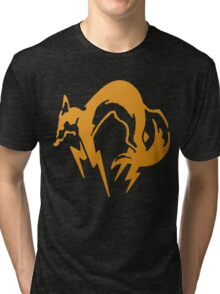 Foxhound Orange - Metal Gear Tri-blend T-Shirt