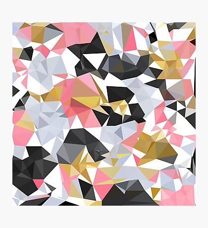Cool geometric abstract pattern Photographic Print