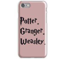 PotterxGrangerxWeasley iPhone Case/Skin