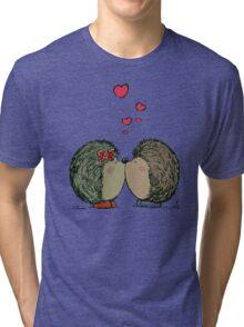 Hedgehogs in love Tri-blend T-Shirt