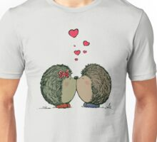 Hedgehogs in love Unisex T-Shirt