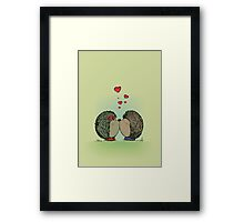 Hedgehogs in love Framed Print