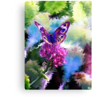 Bright Colorful Butterfly Art Canvas Print