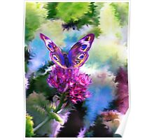Bright Colorful Butterfly Art Poster