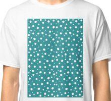 Teal Polkadot  Classic T-Shirt