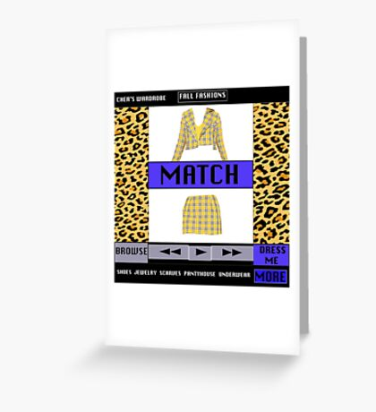 FASHIONABLY CLUELESS - DRESS-UP SOFTWARE  Greeting Card