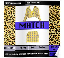 FASHIONABLY CLUELESS - DRESS-UP SOFTWARE  Poster