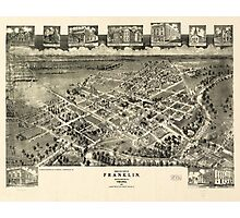 Birds eye view Franklin Southampton Co. Virginia (1907) Photographic Print