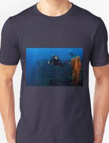 Diver at the MS Zenobia shipwreck.  T-Shirt